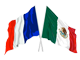 French & Mexican flags